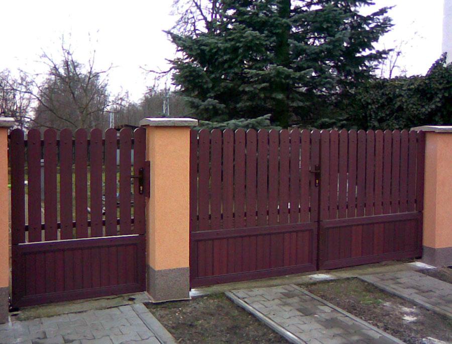 elementy ogrodzenia panelowego